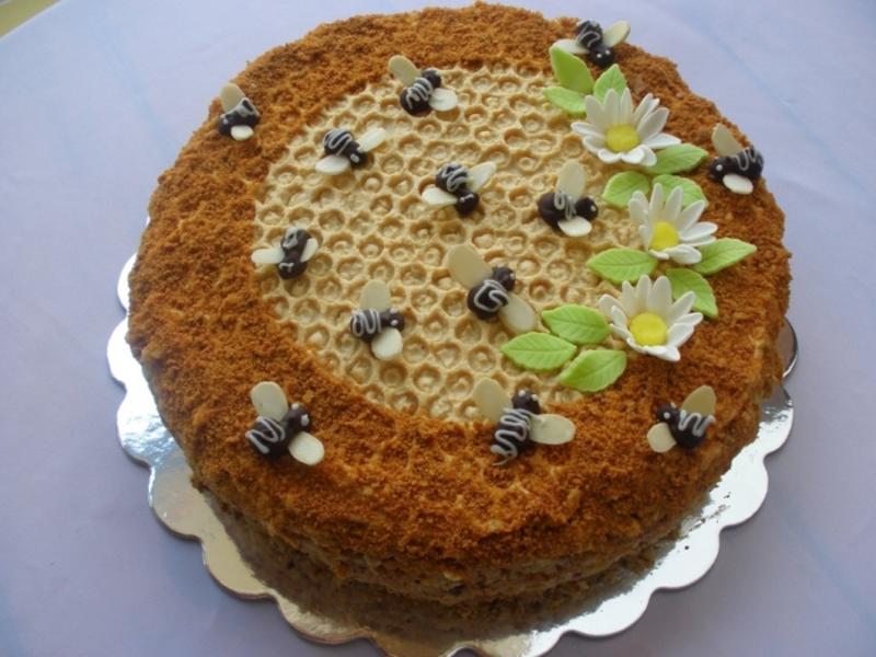 Торт медовый рецепт с фото в домашних условиях с заварным кремом